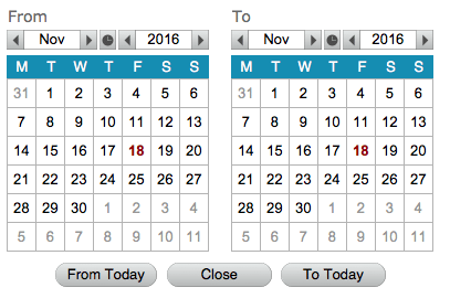 CalendarBOX - date range date picker for FileMaker