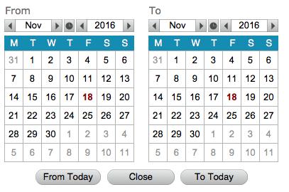 CalendarBOX - date range date picker for FileMaker