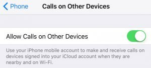 iPhone - Calls on Other Devices