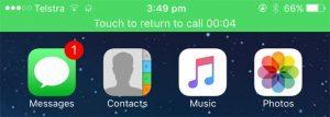 iPhone - Return to call